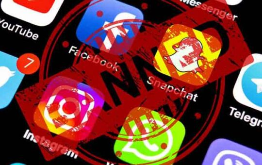 scocial media banned